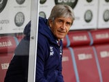 West Ham boss Manuel Pellegrini keeps an eye out on November 9, 2019