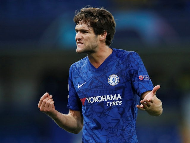 Chelsea's Marcos Alonso reacts on November 5, 2019