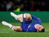Chelsea's Mason Mount reacts after sustaining an injury on November 5, 2019