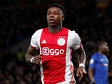 Ajax's Quincy Promes celebrates scoring their second goal against Chelsea on November 5, 2019