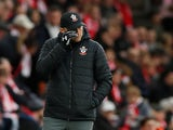 Southampton boss Ralph Hasenhuttl dries his eyes on November 9, 2019