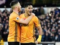Raul Jimenez celebrates scoring yet again for Wolves on November 10, 2019