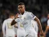 Rodrygo celebrates scoring for Real Madrid on November 6, 2019