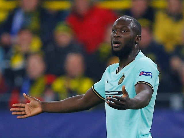 Inter Milan's Romelu Lukaku reacts during the match against Borussia Dortmund on November 5, 2019
