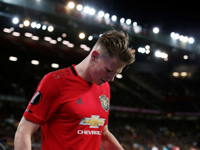 Manchester United's Scott McTominay as he is substituted off on November 7, 2019