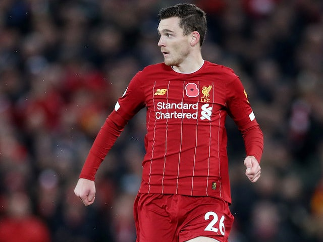 Andrew Robertson in action for Liverpool on November 10, 2019