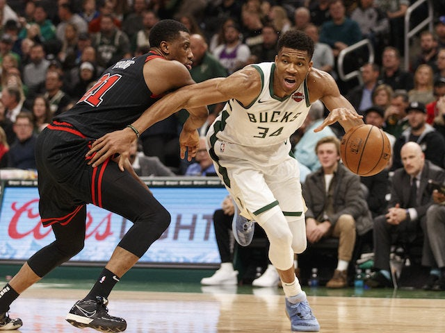 NBA roundup: Giannis Antetokounmpo sees Milwaukee Bucks past Chicago Bulls