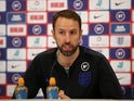 England manager Gareth Southgate during the press conference on November 12, 2019