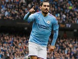 Ilkay Gundogan in action for Man City on October 26, 2019