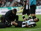 Newcastle United captain Jamaal Lascelles goes down injured against Bournemouth in November 2019