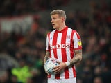 James McClean pictures for Stoke in November 2019