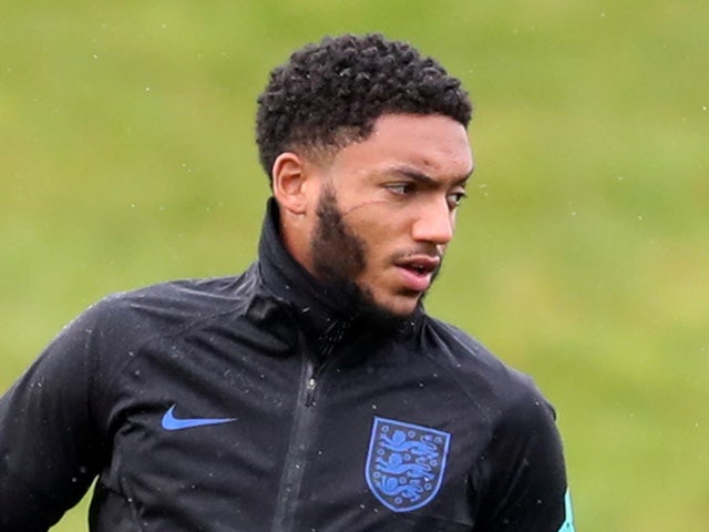 Joe Gomez trains with Raheem Sterling sporting scratch under eye after bust-up
