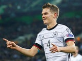 Matthias Ginter pictured after scoring for Germany on November 16, 2019