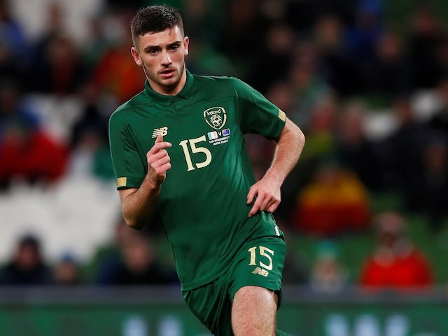 Troy Parrott in action for Republic of Ireland on November 14, 2019