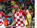 Dinamo Zagreb forward Bruno Petkovic in action for Croatia in November 2019