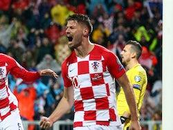 Dinamo Zagreb forward Bruno Petkovic in action for Croatia in November 2019