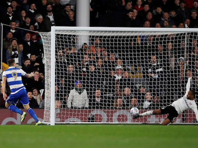 QPR's Jordan Hugill scores against Fulham in the Championship on November 22, 2019