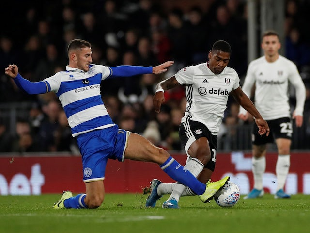 Fulham's Ivan Cavaleiro in action with QPR's Dominic Ball in the Championship on November 22, 2019