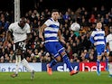 Fulham's Aboubakar Kamara scores against QPR in the Championship on November 22, 2019