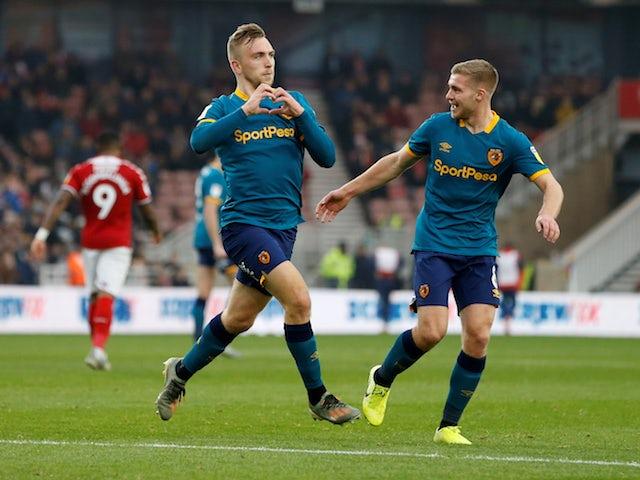 Result: Jarrod Bowen brace rescues Hull draw at 10-man Middlesbrough