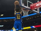 Golden State Warriors forward Marquese Chriss (32) dunks against the Memphis Grizzlies during the first half at FedExForum on November 20, 2019
