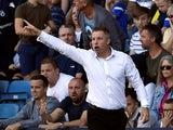 Millwall's manager Neil Harris reacts in September 2019