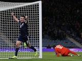 Scotland's John McGinn celebrates scoring their third goal on November 19, 2019