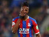 Crystal Palace winger Wilfried Zaha pictured on November 23, 2019