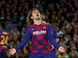 Antoine Griezmann in action for Barcelona on November 27, 2019