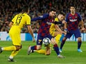 Barcelona's Lionel Messi in action against Borussia Dortmund in the Champions League on November 27, 2019
