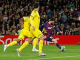 Barcelona's Lionel Messi scores against Borussia Dortmund in the Champions League on November 27, 2019