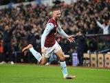 Conor Hourihane celebrates scoring for Aston Villa on November 25, 2019