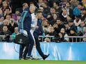 Real Madrid's Eden Hazard limps off with an ankle injury against Paris Saint-Germain in the Champions League on November 26, 2019.