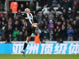 Jonjo Shelvey celebrates his late equaliser for Newcastle on November 30, 2019