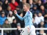 Kevin De Bruyne scores for Man City on November 30, 2019