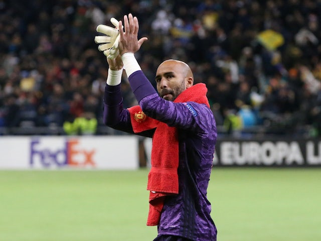 Manchester United goalkeeper Lee Grant pictured on November 28, 2019