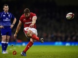 Leigh Halfpenny converts for Wales on November 30, 2019