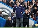 West Ham United boss Manuel Pellegrini pictured at Stamford Bridge on November 30, 2019
