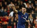 Chelsea's Mateo Kovacic celebrates scoring their first goal on November 27, 2019