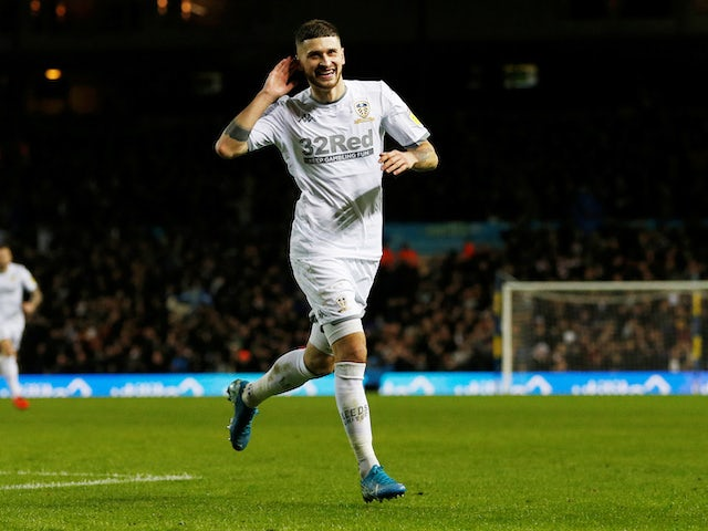 Mateusz Klich celebrates scoring for Leeds on November 30, 2019