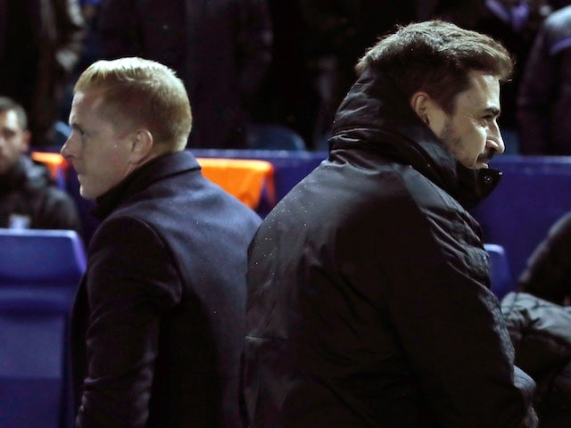 Birmingham City's manager Pep Clotet and Sheffield Wednesday's manager Garry Monk on November 27, 2019
