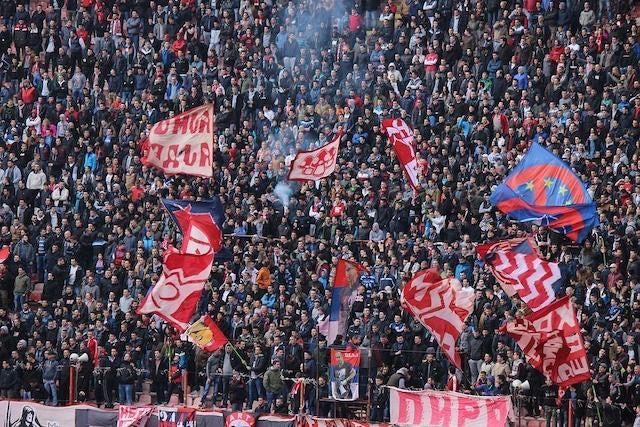 stadium crowd flags