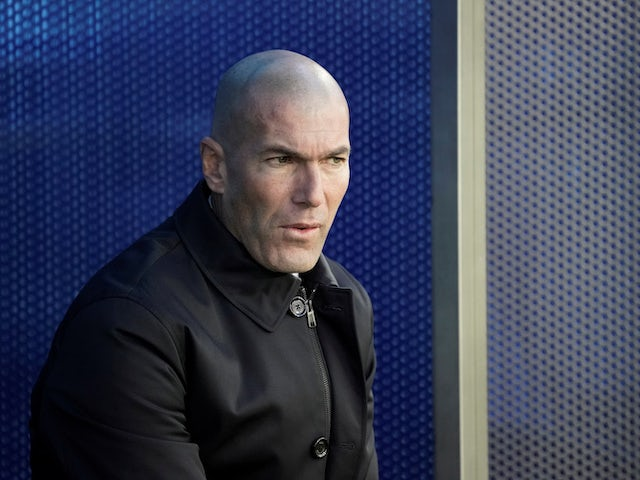 Real Madrid manager Zinedine Zidane pictured on November 30, 2019