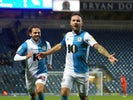 Blackburn Rovers' Adam Armstrong celebrates scoring their first goal on December 7, 2019