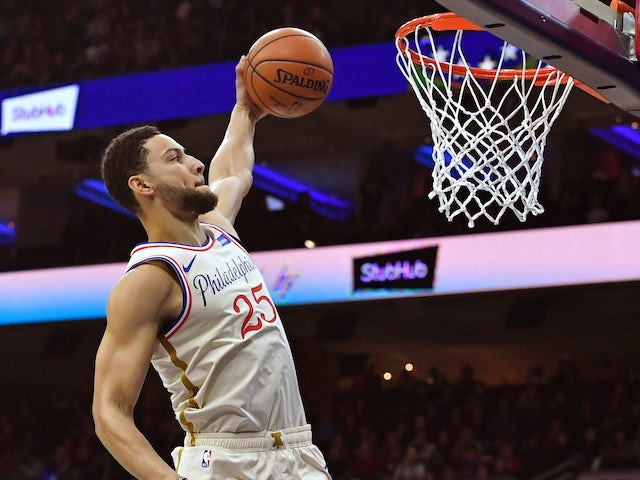 NBA roundup: Simmons scores second career three-pointer