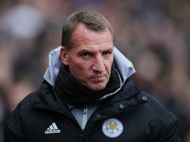 Leicester manager Brendan Rodgers pictured on December 8, 2019