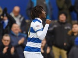Queens Park Rangers' Eberechi Eze celebrates scoring their first goal on December 7, 2019