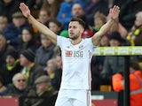 George Baldock celebrates scoring Sheffield United's second on December 8, 2019