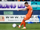 George Moncur in action for Luton Town on May 4, 2019