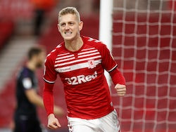 George Saville celebrates scoring for Middlesbrough on December 7, 2019